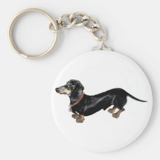 dachshund 'long dog ' key chain