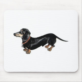dachshund long dog mouse pad