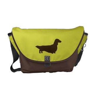 Dachshund (Long Haired) Messenger Bags