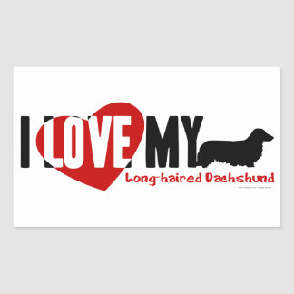 Dachshund Long-haired Stickers