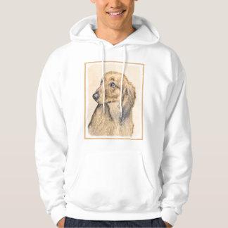 Dachshund (Longhaired) 2 Painting Original Dog Art Hoodie