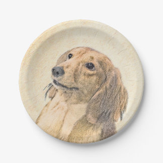 Dachshund (Longhaired) 7 Inch Paper Plate