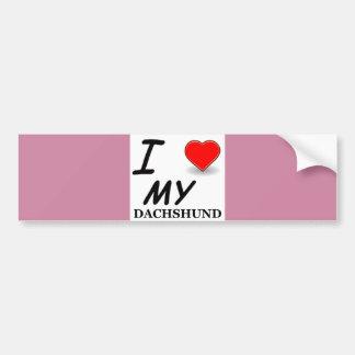 dachshund love bumper sticker