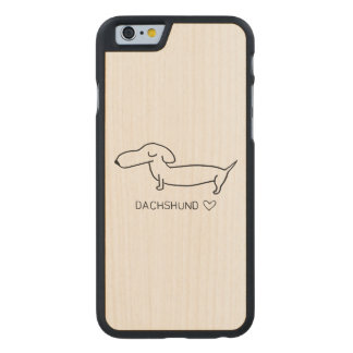 Dachshund Love Carved Maple iPhone 6 Case