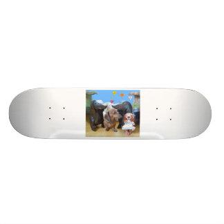 Dachshund Love Custom Skateboard