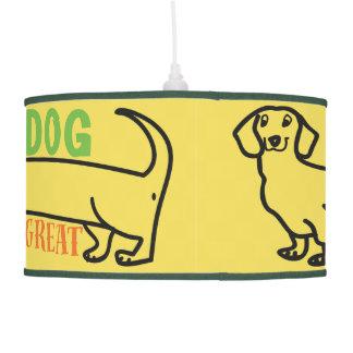 Dachshund Love My Cute Wiener Dog Funny Sketch Pendant Lamp