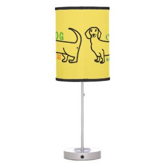 Dachshund Love My Dog Cute Funny Wiener Cartoon Table Lamp