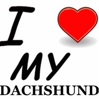 dachshund love photo sculpture keychain