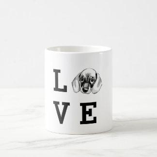 Dachshund LOVE puppy Coffee Mug