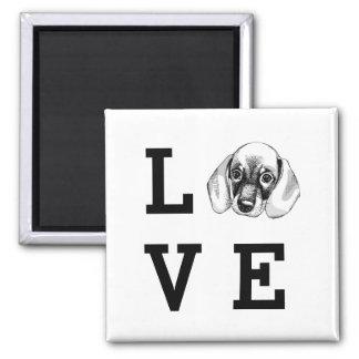 Dachshund LOVE puppy Magnet