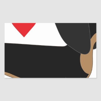 Dachshund Love Rectangle Stickers