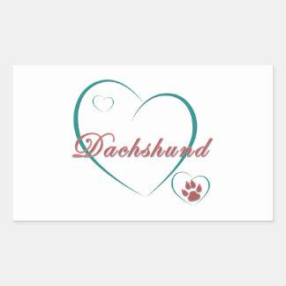 Dachshund Love Sticker