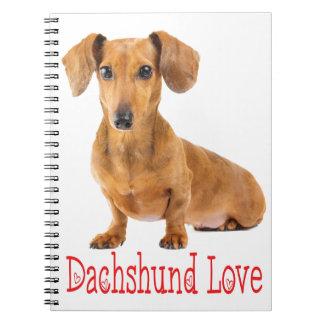 Dachshund Love Tan Puppy Dog Notebook