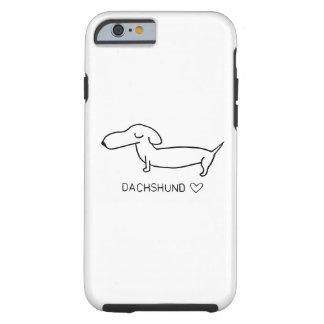 Dachshund Love Tough iPhone 6 Case