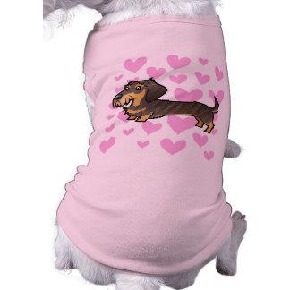 Dachshund Love (wirehair) Dog T Shirt