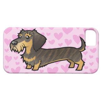 Dachshund Love (wirehair) iPhone 5 Cases