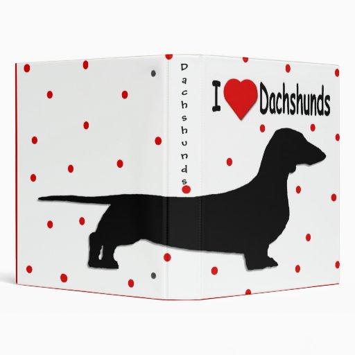 Dachshund Lover Album 3 Ring Binders