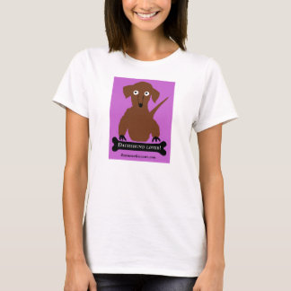 """Dachshund Lover"" in Pink T-Shirt"