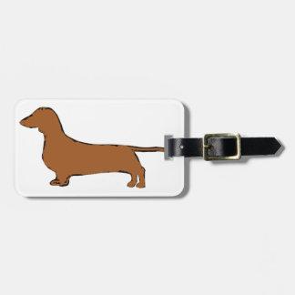 dachshund luggage tag