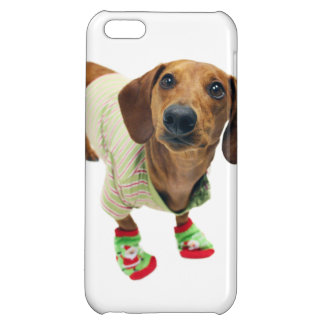 Dachshund - merry christmas - cute dog iPhone 5C covers