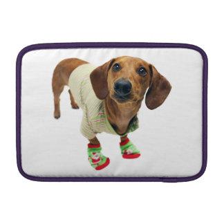 Dachshund - merry christmas - cute dog sleeve for MacBook air