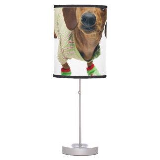 Dachshund - merry christmas - cute dog table lamp