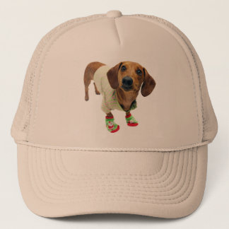Dachshund - merry christmas - cute dog trucker hat