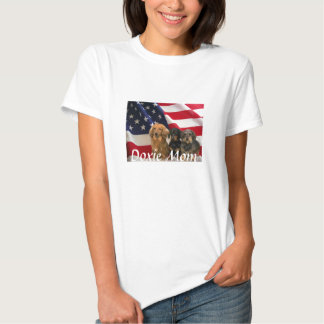 Dachshund Mom T-Shirt American Flag