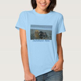 Dachshund Mom T-Shirt Beach