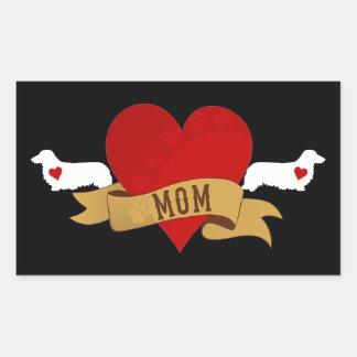 Dachshund Mom [Tattoo style] Rectangle Sticker