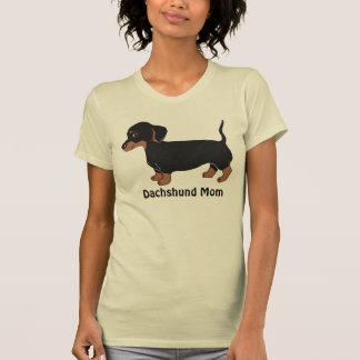 Dachshund Mom Women's T-Shirt, Creme Shirts