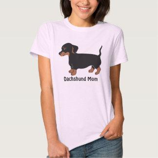Dachshund Mom Women's T-Shirt, Pale Pink T Shirts
