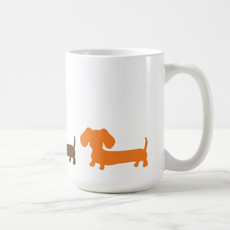 Dachshund Mug Earthy Brown Colors