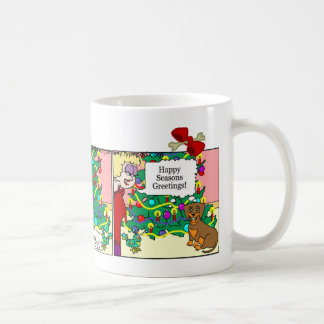 Dachshund Mug: Seasons Greetings Coffee Mug