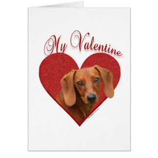 Dachshund My Valentine Greeting Card