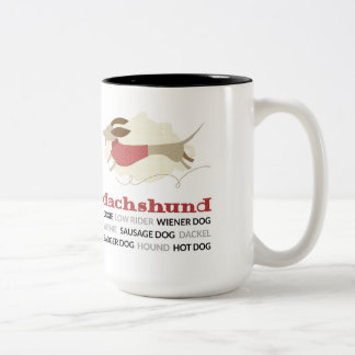 Dachshund Nicknames Two-Tone Coffee Mug