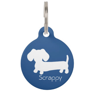 Dachshund on Wiener Dog ID Safety Tag