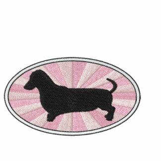 Dachshund Oval Pink Starburst