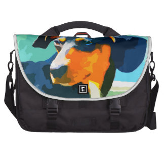Dachshund Painted Doxie Portrait Bag For Laptop