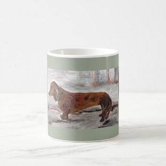 Dachshund Painting mug by Willowcatdesigns