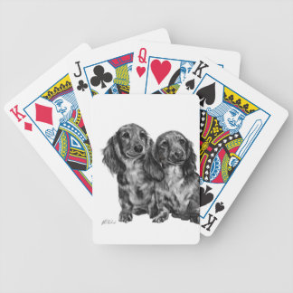 Dachshund Pair Bicycle Playing Cards
