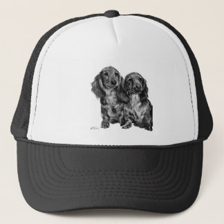 Dachshund Pair Trucker Hat