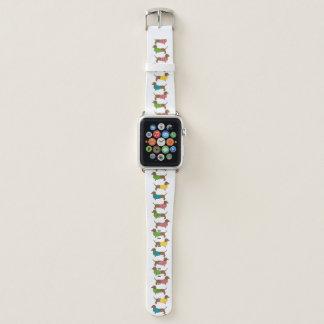 Dachshund Pattern Fun Colorful Dog Themed Apple Watch Band