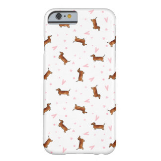Dachshund Pattern - Hearts Barely There iPhone 6 Case
