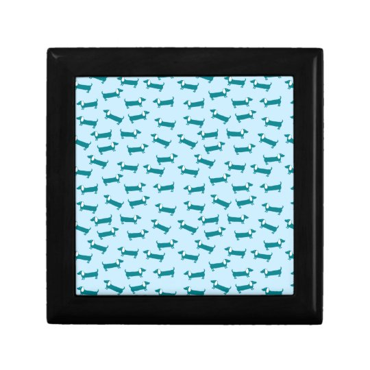 Dachshund pattern in blue combination gift box