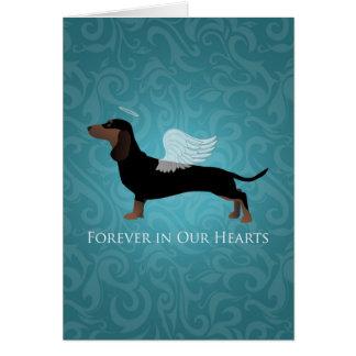 Dachshund - Pet Loss Memorial Design Card