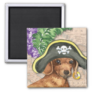 Dachshund Pirate Magnet
