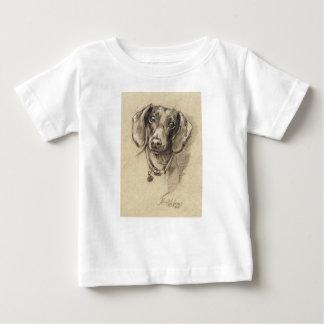 Dachshund portrait baby T-Shirt