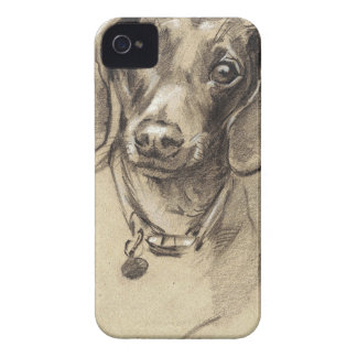 Dachshund portrait Case-Mate iPhone 4 case