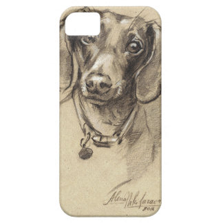 Dachshund portrait iPhone 5 cases